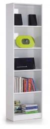 Estanteria Alta 5 Baldas Librería Habitacion Juvenil Despacho Color Blanco (artik) 180x52x25