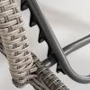 Pack 2 Tumbonas De Piscina | Reclinable Y Con Ruedas | Tamaño: 210x70x54 Cm | Aluminio Y Ratán Sintético Plano