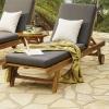 Tumbona Para Jardín Con Ruedas   Reclinable   Madera Teca Grado A   Tamaño: 65x200x35 Cm   Tratamiento Al Agua Aplicado