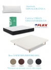 Pack Colchon Urban Visco 105x190 + Tapiflex Transpirable Con Patas + Almohada Lider Flex
