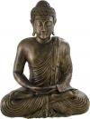 Figura De Buda Decoración En Color Oro Oscuro | 58 Cm De Alto