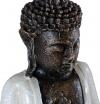 Figura De Buda Meditando En Color Blanco Rústico | 32 Cm De Alto