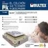 Pack Colchón Smart Pik Ecore + Canapé Cerezo 105x190 Cm. Bultex