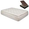 Pack Colchón Pillow Top 33 Cm + Canapé Wengué 150x200 Cm. Pikolin