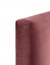 Cabecero Desenfundable Modelo Plain Cama 150 Terciopelo Color Salmón