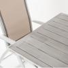 Conjunto Para Jardín Mesa De 190 Cm Y 6 Sillones Reclinables De Color Blanco