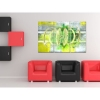 Cuadro Deco Tríptico Abstracto Deco Ruche - 120x80 Cm