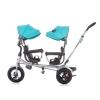 Triciclo Gemelar  Con Ruedas De Goma Y Asiento Delantero Giratorio 2 Play Mint De Chipolino