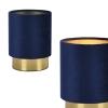 [lux.pro]® Lámpara De Mesa Welsum - Lámpara De Noche De Diseño - 20 Cm X Ø15 Cm - Azul