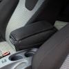 [pro.tec] Reposabrazos Central Para Opel Corsa D (a Partir De 2006) - Apoyabrazos Con Compartimento - Tapizado - Tela - Negro