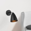 [lux.pro]® Lámpara De Pared - Movible - Ajustable - De Metal - Iluminación Interior - Luz - Ø12 Cm - E14