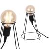 [lux.pro] Lámpara De Mesa - Diseño - Sydney - Lámpara Estilo Industrial - 26cm