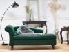 Chaise Longue En Terciopelo Verde Esmeralda Luiro