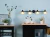 Lámpara De Pared En Negro/dorado Mersey Iv