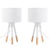 Conjunto De 2 Lámparas De Mesa Blancas Tobol