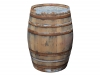 Barril De Agua 225l / H95cm/ D70cm - Rústico Con Tapa Asa De Cuerda