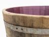 Barril Macetero H40cm/ D70cm - Agujeros Drenaje De Agua Madera Natural