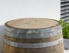 Barril De Agua 225l / H95cm/ D70cm - Rústico Con Tapa Asa De Metal