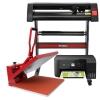 Kit Plotter De Corte De Vinilo Signcut Pro, Prensa Térmica De 50cm E Impresora