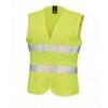 Result Core - Chaleco Alta Visibilidad Modelo Sleeveless Mujer / Señora (s/10) (amarillo Fluorescente)