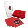 Ac Milan Official - Kit Para Mini Bar Con Logotipo (modelo Único) (transparente/rojo)