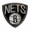 Brooklyn Nets - Pin (talla Única) (blanco/negro)