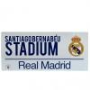 Real Madrid Fc - Letrero Oficial (talla Única) (blanco)