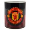Manchester United Fc - Taza Con Escudo Del Club (tamaño Único) (negro/rojo)