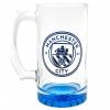 Manchester City Fc - Jarra De Cerveza De Cristal Con El Escudo Del Equipo (tamaño Único) (azul)