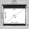 """Duronic Mps100/169 - Pantalla De Proyección Enrollable Manual 100"""" 16:9 (221 X 125 Cm)"""