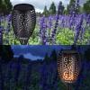 Lámpara De Jardín En Energía Solar 96 Leds Efecto De Llama