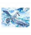 Fotomural - Pegasus (blue) , Tamaño - 400x280