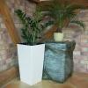 Macetero Plástico Prosperplast Zanvic Urbi 26,6l 27x27x50cm Blanco