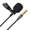 Micrófono Corbata Jack 3,5mm Grabación Omnidireccional Reducción Sonido Negro