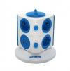 Torregleta Con 2 Usb Y 7 Enchufes Color Azul, La manera más segura y rápida para recargar y enchufar tus equipos