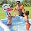 Piscina Infantil Con Canasta De Basket Y Pelota Intex