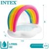 Piscina Hinchable Infantil Arcoíris Con Pulverizador Intex 142x119x84 Cm