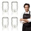 Vasos Vidrio Borosilicato Masterpro Set 4 Piezas Licor 50ml Mixology Alta Resistencia