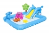 Piscina Hinchable Centro De Juegos Acuático Con Tobogan Peces Accesorios Y Pulverizador De Agua Ideal Para Refrescar A Los Niños Este Verano