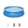 Piscina Hinchable Fast Set Bestway 457x122 Cm Con Depuradora Cartucho 3.028 L/h Y Escalera
