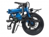 Bicicleta City 4 Speed Eovol Plegable Azul
