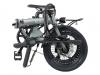 Bicicleta City 4 Speed Eovol Plegable Gris