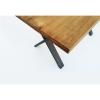 Mesa Comedor Oficina Moderna Madera Maciza 140x100cm. Patas Acero Forma X