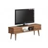 Mesa Television, Mueble Tv Salon Diseño Vintage, 2 Puertas Y Estante, Madera Maciza Natural, Fabricacion Artesanal