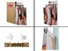 Dekoarte 249 - Cuadro Moderno En Lienzo Montado En Bastidor De Madera De 4 Piezas, Estilo Abstracto Árbol De La Vida Gustav Klimt De Colores, 120x90cm