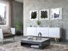 Dekoarte E074 - Espejo Moderno De Pared Decorativo Formas Irregulares Dividido En 3 Piezas 180x60cm