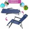 Tumbona Plegable Relax Hannover Garden 80x61x40cm - Azul