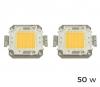 Pack De 2 Placa Led Para La Reparacion De Focos Led 3000 K Cálido Varios Watt | 50 Watt