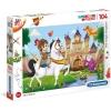 Puzzle 104 Piezas - Caballero Y Dragón - 48 X 33 Cm
