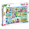 Puzzle 104 Piezas - En La Ciudad - 48 X 33 Cm